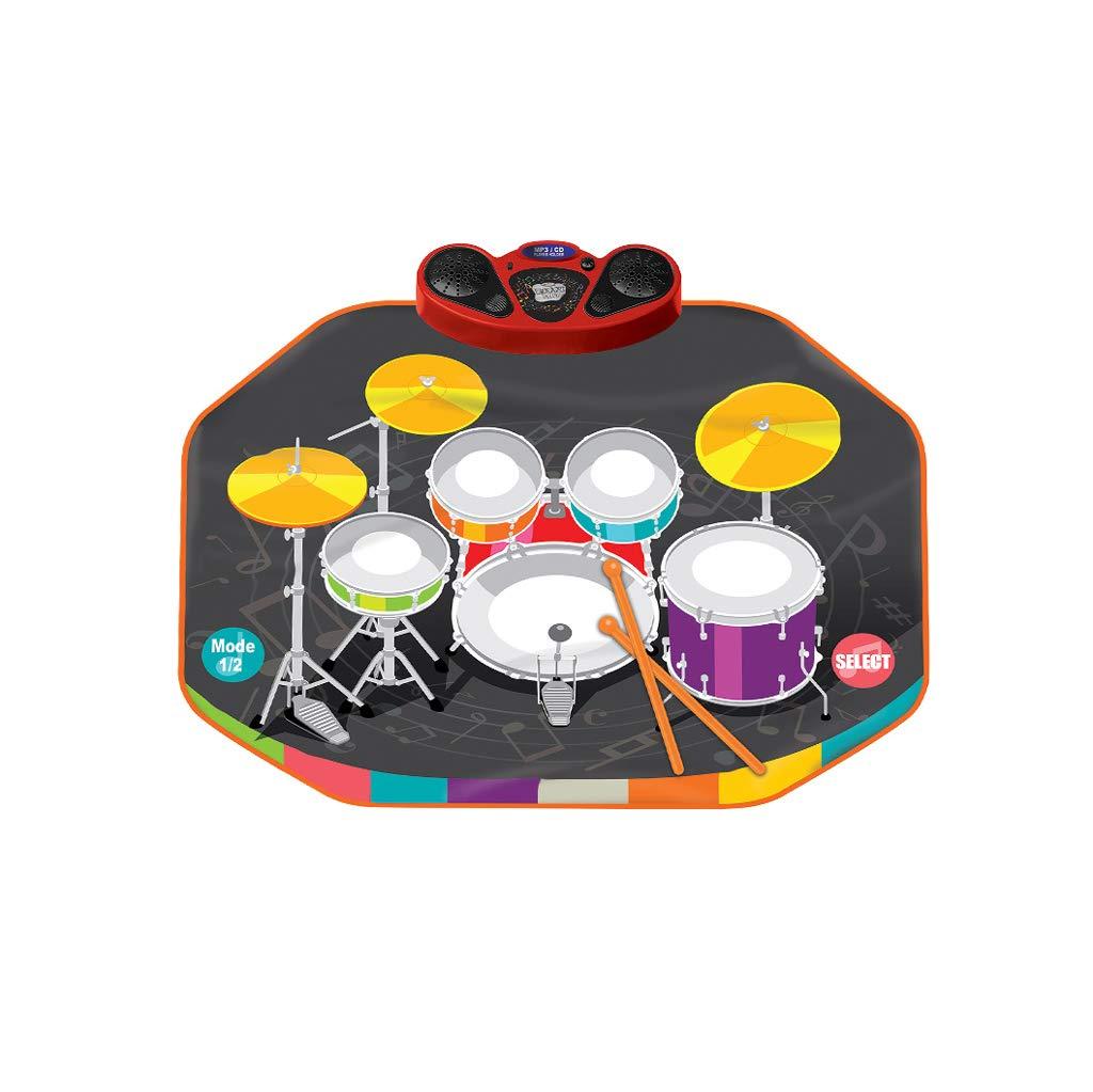 LINGLING-Tambor Simulación Videojuego Manta Tambor Música Manta Niños Niña Niño Regalo de Cumpleaños Juguete (Tamaño : Metro)