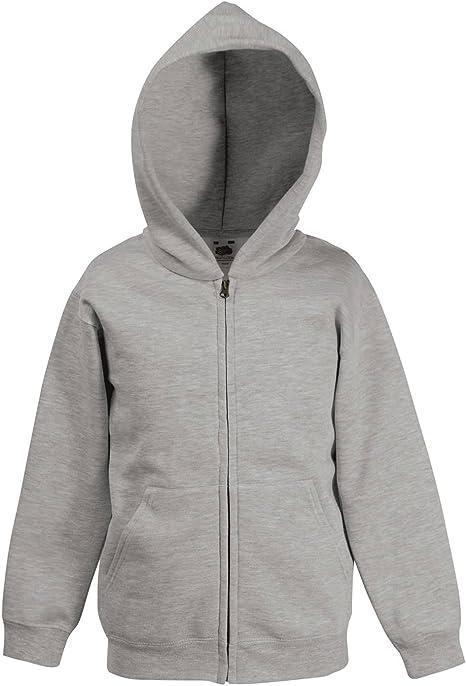 Fruit of the Loom Premium Kids Zip Hooded Sweat Jacket Hoodie Hoody 5 Colours