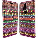 ZTE Axon Pro Wallet Case, CoverON® [CarryAll Series] Flip Folio Card Slot Pouch Cover Screen Protector + Strap Case For ZTE Axon Pro - Tribal Aztec Design