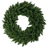 NORTHLIGHT V03944 Lush Mixed Pine Artificial Christmas Wreath 24in (Small Image)