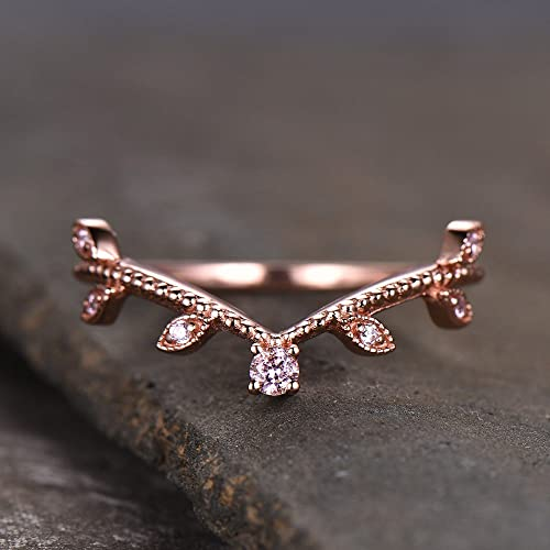6c651da4d4bfa Amazon.com: Sterling Silver Rings Man Made Pink CZ Diamond Vintage ...