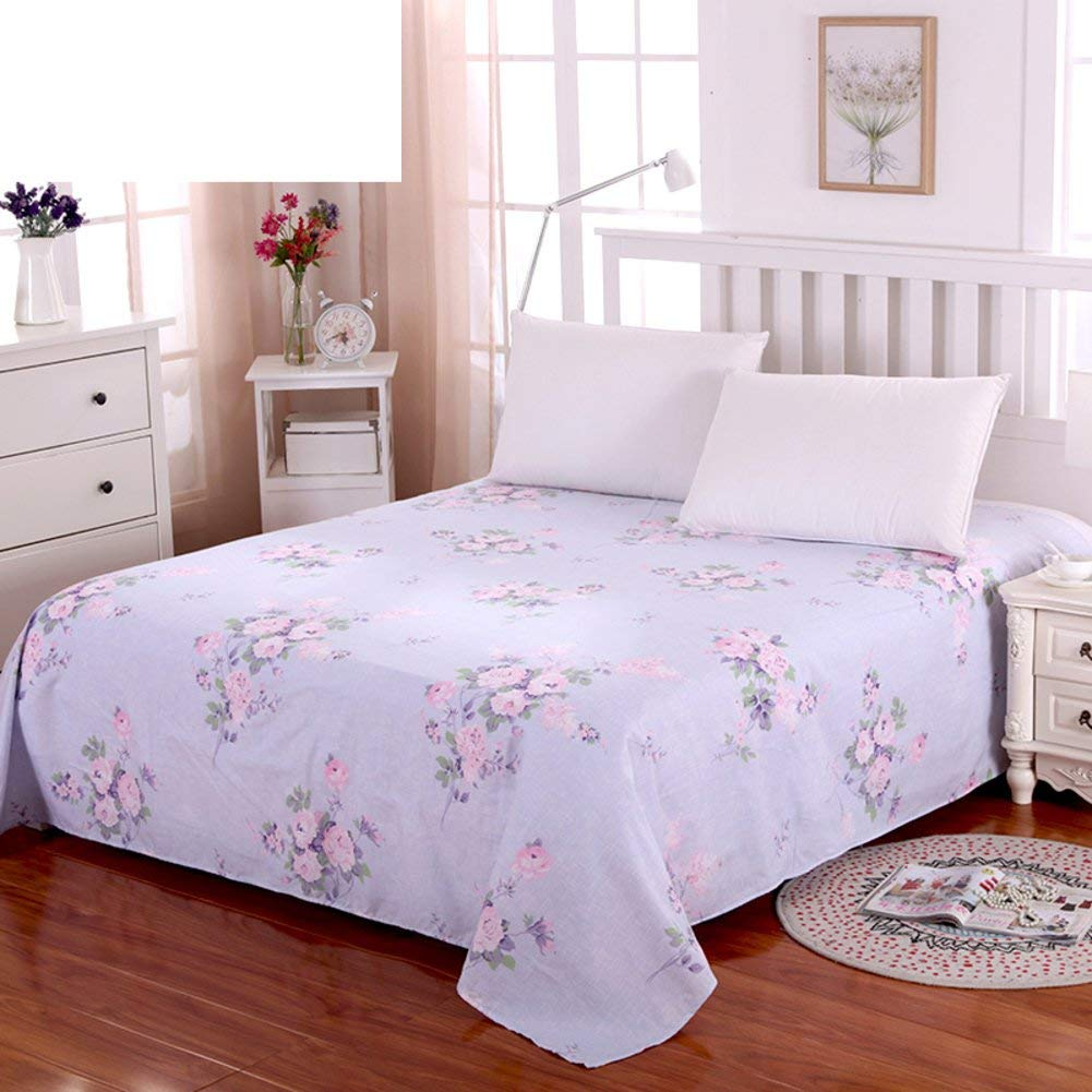 YUHUS Home Lenzuola in Puro Cotone, Lenzuola in Twill di Cotone Lenzuola Doppie-J 230x250cm (91x98 inch) (Size : 63x91inch(160x230cm)) YUHUS-Bed Sheet