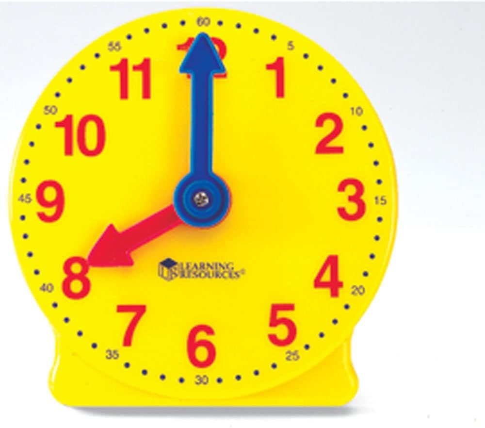 Set of 12 ETA hand2mind 4-inch Geared Clock
