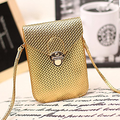 Shoulder Daliuing Lock Purse Golden Classic Phone Safe Pouch for Fashion Women Mobile Lattice Coin Black Mini Bag Handbags Shoulder z1zqrX