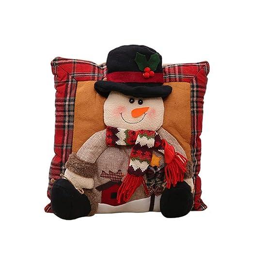 QTT Decoración De Navidad, Almohada De Almohada De Casa De ...