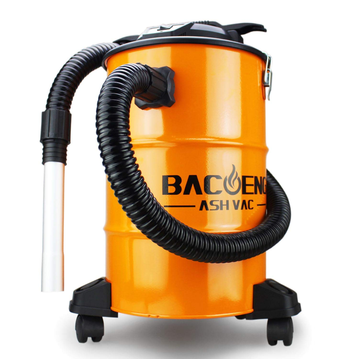 BACOENG Standard 5.3 Gallon 10Amp Ash Vacuum Cleaner with Double Filtration System for Pellet Stoves, Wood Stoves and BBQ Grills by BACOENG
