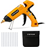 Crenova Hot Glue Gun 100W with 10 pcs Glue Sticks and Carry Bag,Portable High Temp Upgraded Copper Nozzle Glue Gun for Industrial,Home,Arts,DIY Crafts,Sealing and Quick Repairs Yellow.