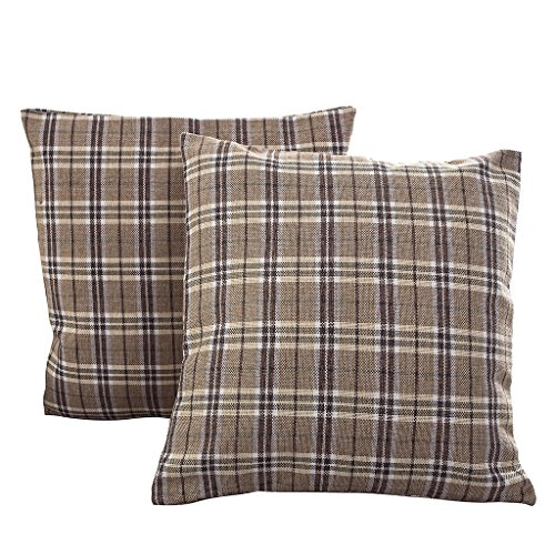 Best Dreamcity Cushion Covers Pack of 2 Multi Plaid Decorative for Sofa 24