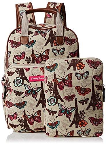 Essex Marrón Beige Mochila SwankySwansNoel mujer Paris Butterfly Claro a4wWzxC