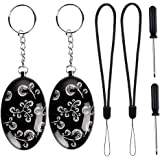Personal Alarm, Outee 2 Pack 120db Emergency Personal Safety Defense Sound Alarm Keychain Security Alarm Wrist Alarm for Women