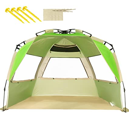 official photos 83682 5e36d Buy VCOSTORE Beach Tent Large Instant Beach Shelter 4 People ...