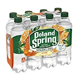Poland Spring Sparkling Water, Orange, 16.9 oz. Bottles (Pack of 8)