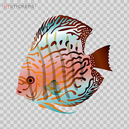 Vinyl Sticker Decal Fish Royal Red Discus Freshwater Aquarium Atv Car Garage Bike D217 ()