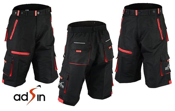 adsin Pantalones cortos para bicicleta de montaña de ciclismo para ...