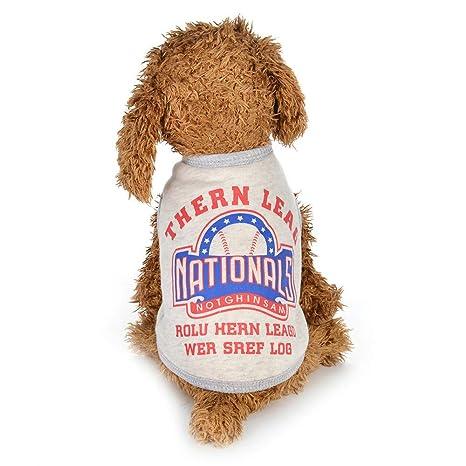 Ropa para Mascotas, algodón Abrigos para Cachorros y Perros, sin Mangas, Camiseta,
