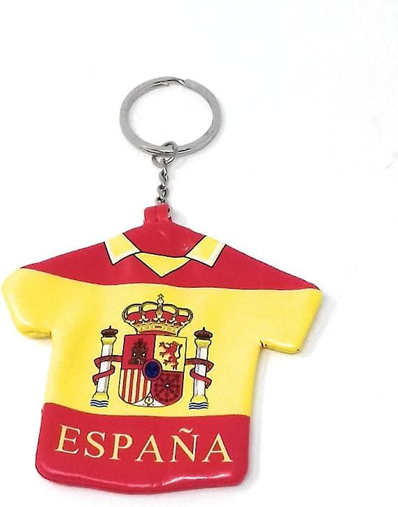 Llavero Monedero con Forma de Camiseta de España con el Escudo y ...