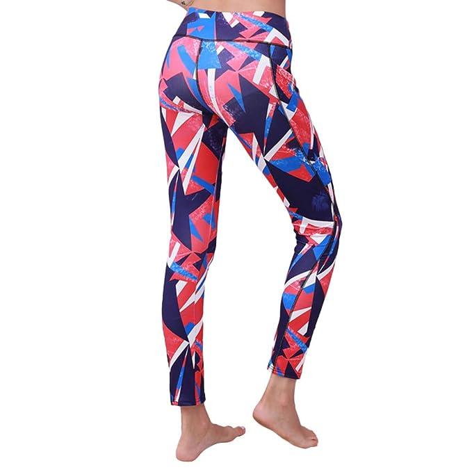 Frauen Leggings Mesh Spitze Stretch Lang Hose Sporthose Treggings Leggin Fitness