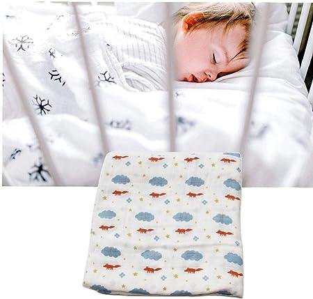 Muselina De Empañar Mantas De Algodón Para Bebés De Empañar Wrap Para Eructar Paños Cochecito De La Cubierta 1pcs Fox Nubes