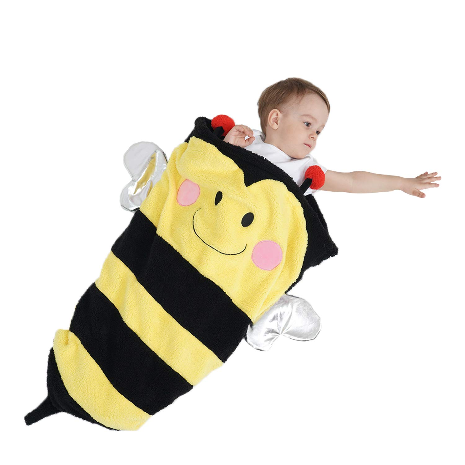 SINOGEM Bee Baby Blanket Toy - Lovely Plush Friendly Insects Bees Sleeping Bag for Sofa Couch Bed Travel Sleepovers Outdoor by SINOGEM