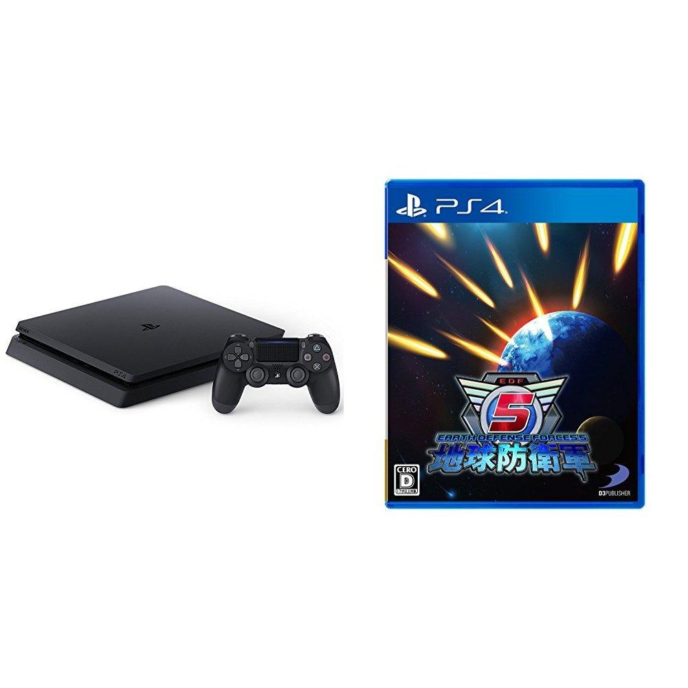 PlayStation 4 ジェットブラック 500GB (CUH-2100AB01) + 地球防衛軍5 セットB076HNBSJP3) PS4 本体セット (ブラック HDD:500GB)