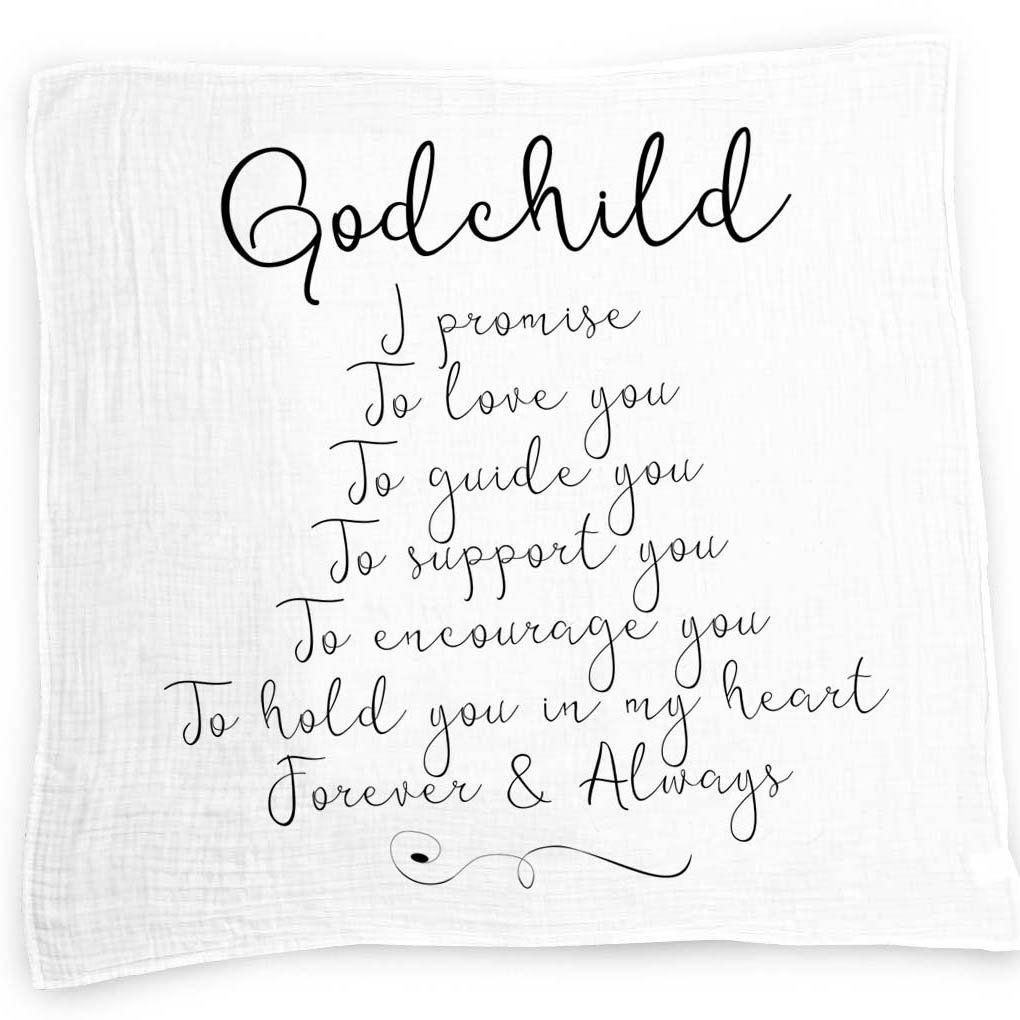 Godchild gift quote baby swaddle blanket christening gift godchild gift quote baby swaddle blanket christening gift baptism gift for godson goddaughter muslin swaddle baby wrap with scripture quotes for baby altavistaventures Images