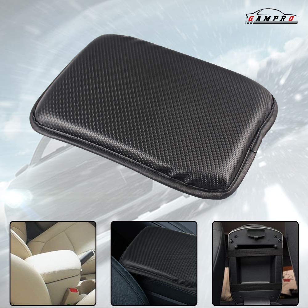 GAMPRO Luxury PU Soft Leather Car Center Console Cushion 30/×20/×2cm Vehicle Seat Cushions Armrest Pillow Pad for Car Motor Auto Vehicle Black Raises Your Center Console.