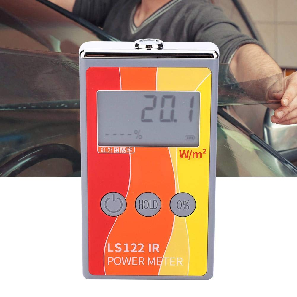 IR Power Meter LS122 Infrared Radiation Test Meter Handheld Infrared Light Source Luminance IR Rejection Detector 0-40000W//㎡
