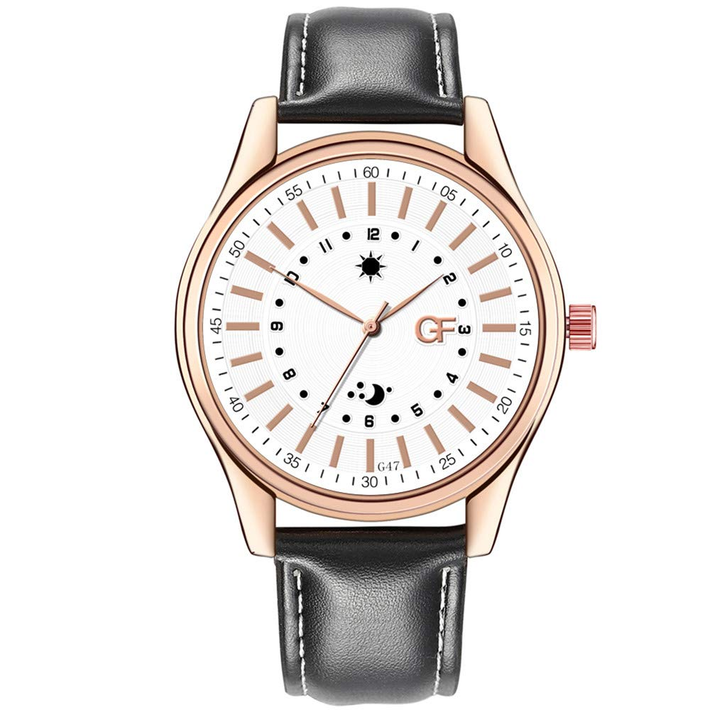Amazon.com : XBKPLO Quartz Watches Mens Analog Wrist Watch Pointer Light Personality Dial Leather Band Leisure Strap Watch Jewelry Gift : Pet Supplies