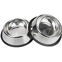 Voederbak en drinkbak voor honden en katten van roestvrij staal, 18 cm, voederbak van roestvrij staal, voor honden en…