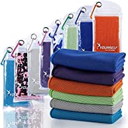 """SYOURSELF Cooling Towel, Ice Towel, 40"""" x 12""""- Snap Cooling Towels, Microfiber Towel for Instant Coo"""