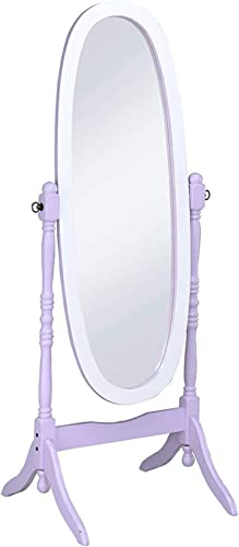 ORE International N4001-PURP/WH Oval Cheval Standing Mirror