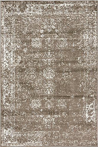 Unique Loom Sofia Collection Brown 4 x 6 Area Rug