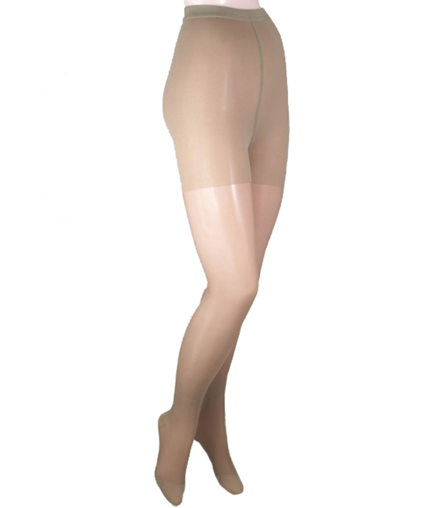 ITA-MED Sheer Pantyhose, Compression (20-22 mmHg) Beige, X-Tall, 2 Count