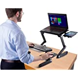 Amazon.com : Ergonomic Laptop Standing Desk w/ Mouse Pad ...