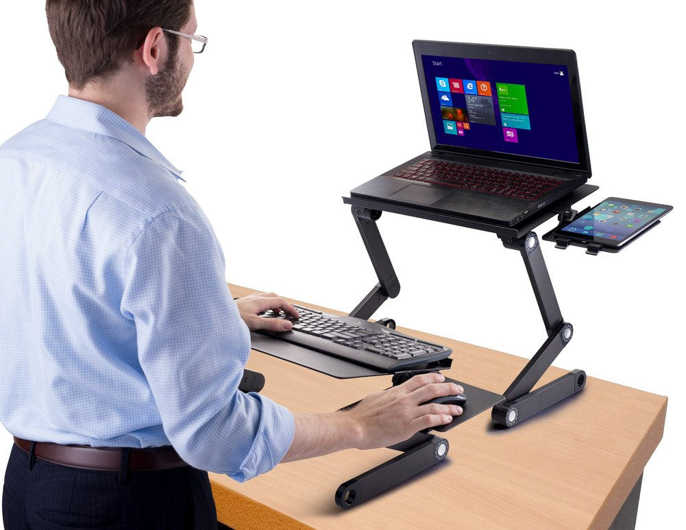 Amazoncom Standing Desk Adjustable Sit Stand Desk for Laptops