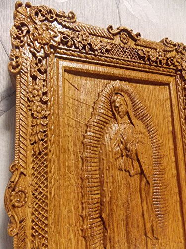 Our Lady of Guadalupe Catholic Icon religious christmas gift Wood Carved religious home decor FREE ENGRAVING FREE SHIPPING