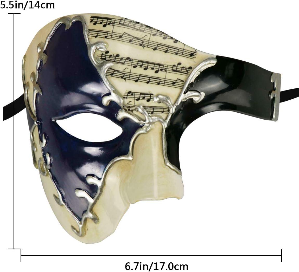 Ccufo or mécanique Vapeur Punk fantôme de l/'Opéra Vintage Hommes Masque Vénitien
