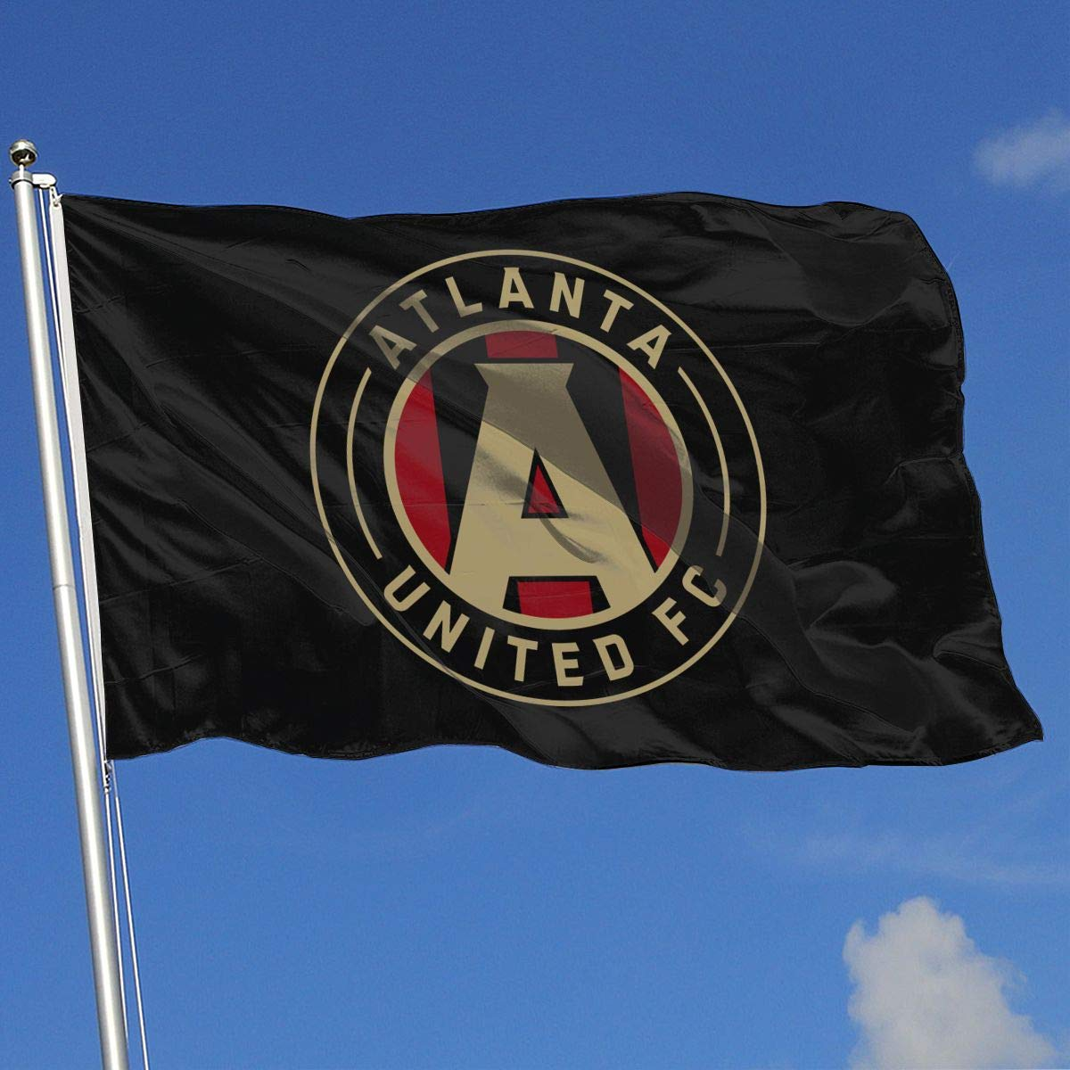 QZHUWAI Atlanta United Racer 3x5FT-100/% Polyester Single Layer Translucent Banner Brass Grommets Outdoor Special