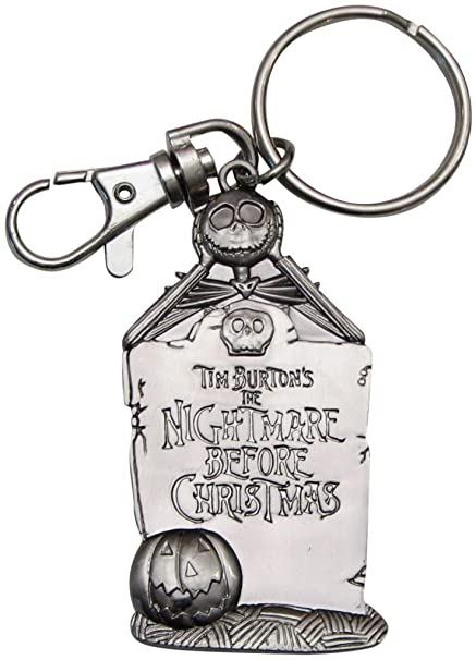 Nightmare Before Christmas Disney Pewter Keychain