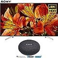 Sony XBR65X850F 65-Inch 4K Ultra HD Smart LED TV (2018 Model) with Google Home Mini (Charcoal)