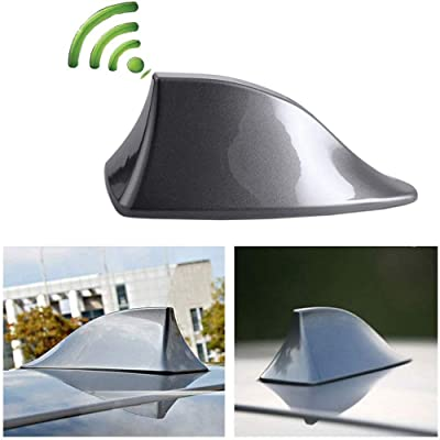 Heart Horse Upgraded Signal Universal Shark Fin Antenna Cover FM/AM Radio Aerial Replacement for BMW/Honda/Toyota/Hyundai/Kia/etc Grey: Automotive