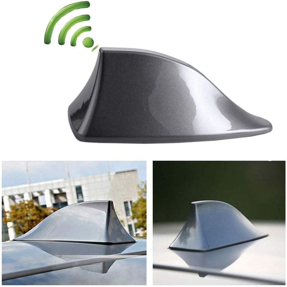 Heart Horse Upgraded Signal Universal Shark Fin Antenna Cover FM/AM Radio Aerial Replacement for BMW/Honda/Toyota/Hyundai/Kia/etc Grey