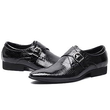 GAOLIXIA Herren Schuhe aus echtem Leder wies Formale Schuhe