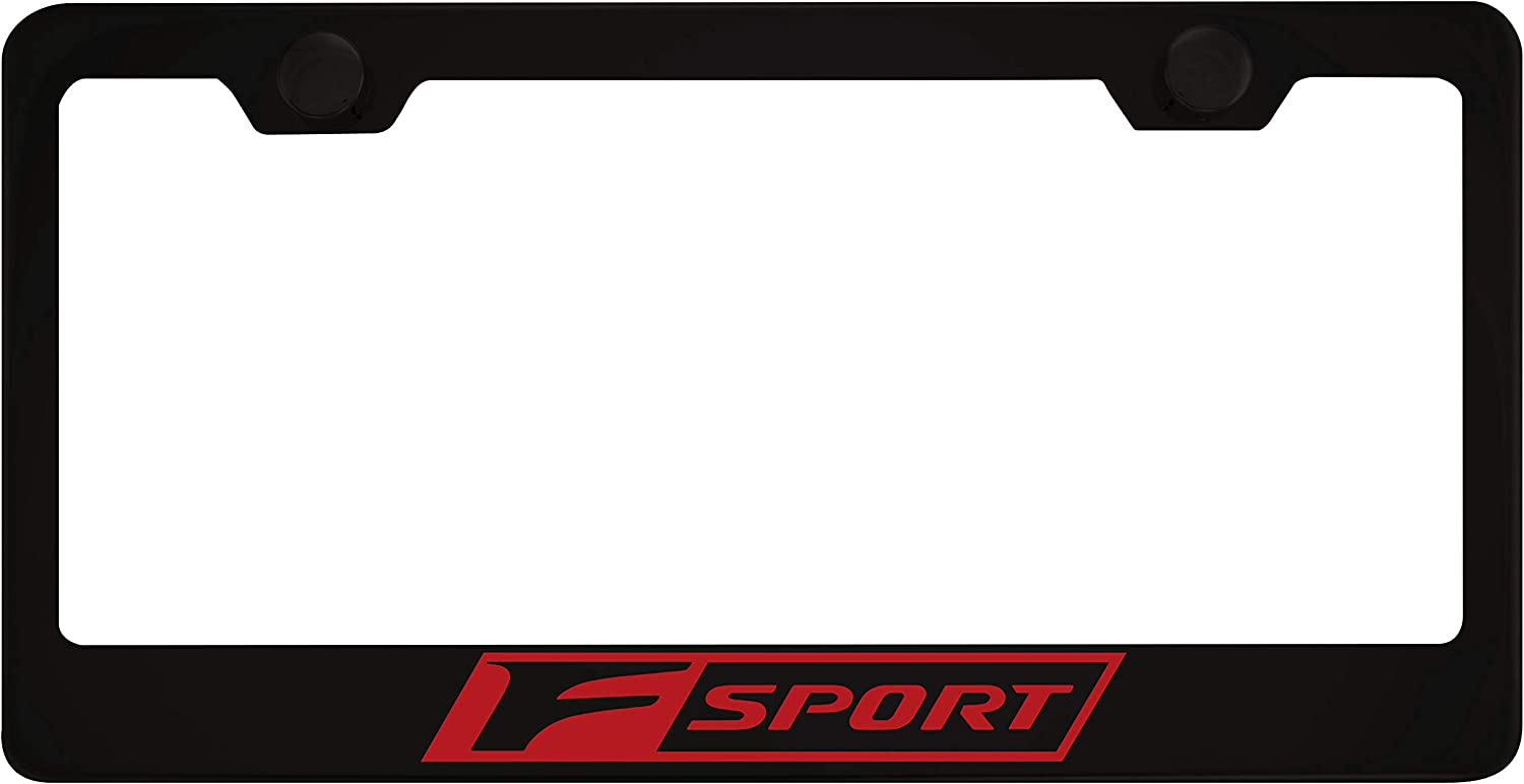 Lexus F Sport Black License Plate Frame with Caps