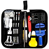 Baban 147 PCS Watch Repair Kit Professional Spring Bar Tool Set, Watch Band Link Pin Remover Tool Set with Carrying Case