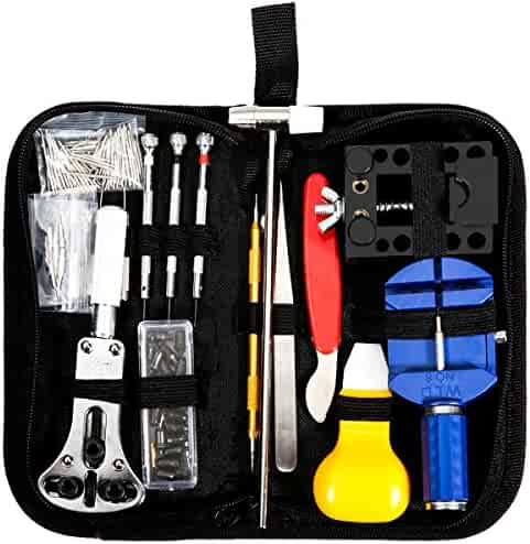 Baban 147 PCS Watch Repair Kit,Watch Tools Professional Spring Bar Tool Set Watch Band Link Pin Remover with Carrying Case