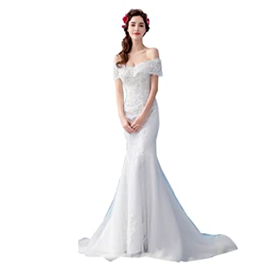 bf0e1333d34ff ホワイト マーメイド ウエディングドレス トレーン二次会 カラードレス パーティードレス 演奏会 フォーマルドレス 結婚式