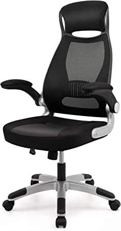 Intimate Wm Heart Desk Chair Ergonomic Executive Office Chair Fabric Mesh Chair Swivel Computer Chair With High Back Padded Seat Foldable Armrests Head Support Black Amazon Co Uk Kitchen Home