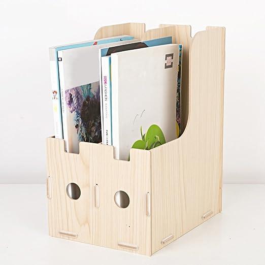 Revisteros madera, Rack de almacenamiento de escritorio Estante de ...