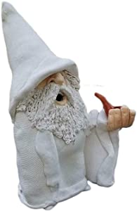 Smoking Wizard Gnome Garden Big Tongue Gnome Gnome Gnome Statue Funny Lawn Figurine Garden Statue for Indoor Or Outdoor Decorations-C 12x10cm(5x4inch)
